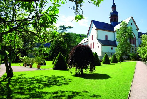 Eberbach Monastery is located in the side valley of the Rheingau.