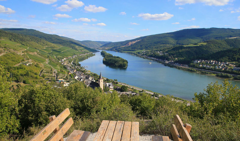 The viewpoint in Lorch on the Rhine was able to win through for the Rheingau.